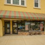 store front of pine acres popcorn located on Main street in Union Grove