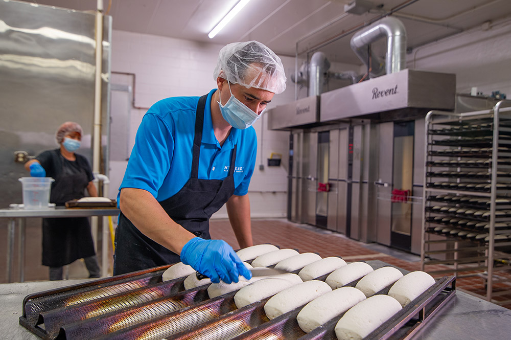 dan gallagher cutting bread mybread bakery racine