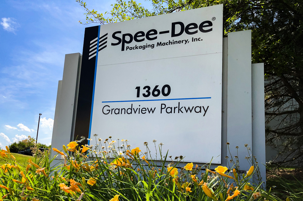 Spee Dee packaging Sign