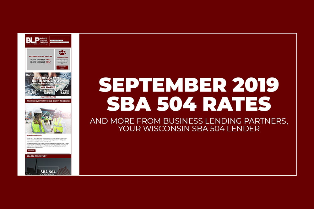 September 2019 SBA 504 Rates