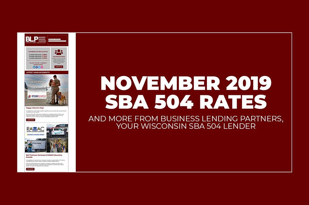November 2019 SBA 504 Rates