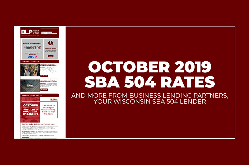 October 2019 SBA 504 Rates