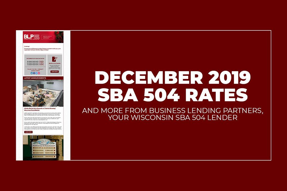 December SBA 504 Rates