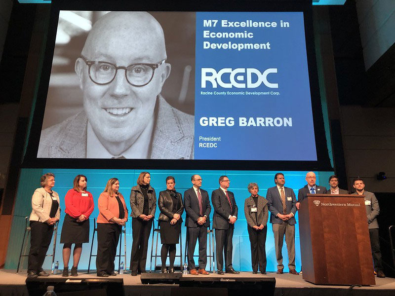 RCEDC Awarded at Milwaukee 7 Annual Meeting with Greg Barron