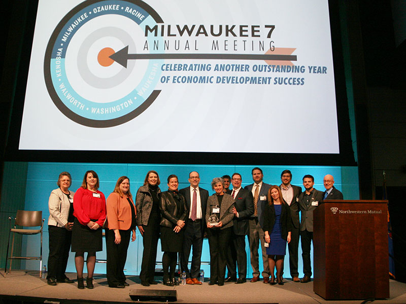 RCEDC Awarded at Milwaukee 7 Annual Meeting with Missy Hughes