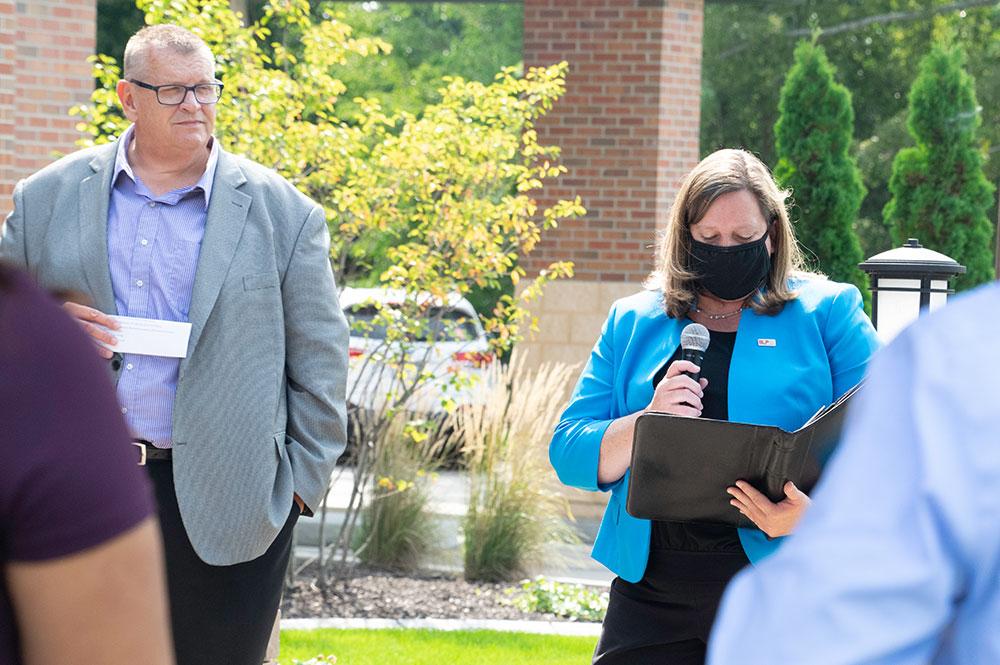 Scott Huedepohl and Carolyn Engel