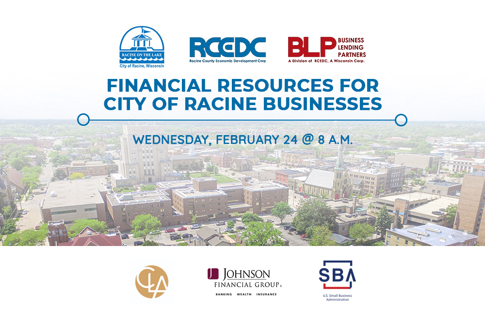 financial resources for city of racine businesses