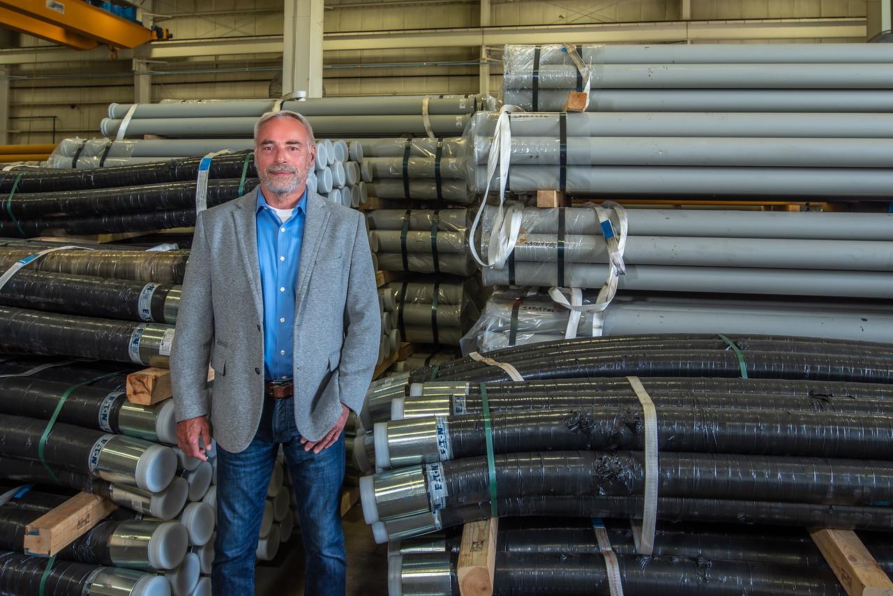 Eric Zimmermann at Valme North America Inc. facility
