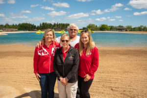 Isaacson family at Jellystone's new beach